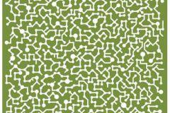 Absztrakt,különleges motívumos,rajzolt,retro,fehér,zöld,gyengén mosható,vlies poszter, fotótapéta