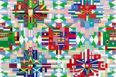 Absztrakt,feliratos-számos,geometriai mintás,gyerek,különleges motívumos,rajzolt,fehér,fekete,kék,pink-rózsaszín,piros-bordó,zöld,gyengén mosható,vlies poszter, fotótapéta