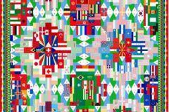 Absztrakt,fotórealisztikus,geometriai mintás,különleges motívumos,fehér,kék,pink-rózsaszín,piros-bordó,zöld,gyengén mosható,vlies poszter, fotótapéta