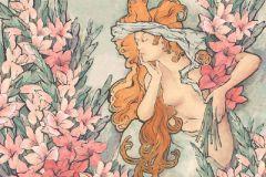 Különleges motívumos,rajzolt,tájkép,természeti mintás,barna,bézs-drapp,kék,narancs-terrakotta,pink-rózsaszín,sárga,szürke,zöld,gyengén mosható,vlies poszter, fotótapéta