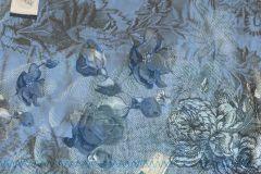 Absztrakt,feliratos-számos,rajzolt,retro,természeti mintás,textilmintás,virágmintás,kék,gyengén mosható,vlies poszter, fotótapéta