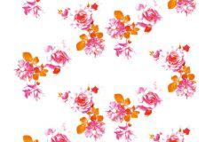 Konyha-fürdőszobai,különleges motívumos,rajzolt,retro,természeti mintás,virágmintás,fehér,narancs-terrakotta,pink-rózsaszín,gyengén mosható,vlies poszter, fotótapéta