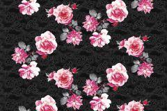 Konyha-fürdőszobai,különleges motívumos,rajzolt,természeti mintás,virágmintás,barna,fekete,pink-rózsaszín,gyengén mosható,vlies poszter, fotótapéta