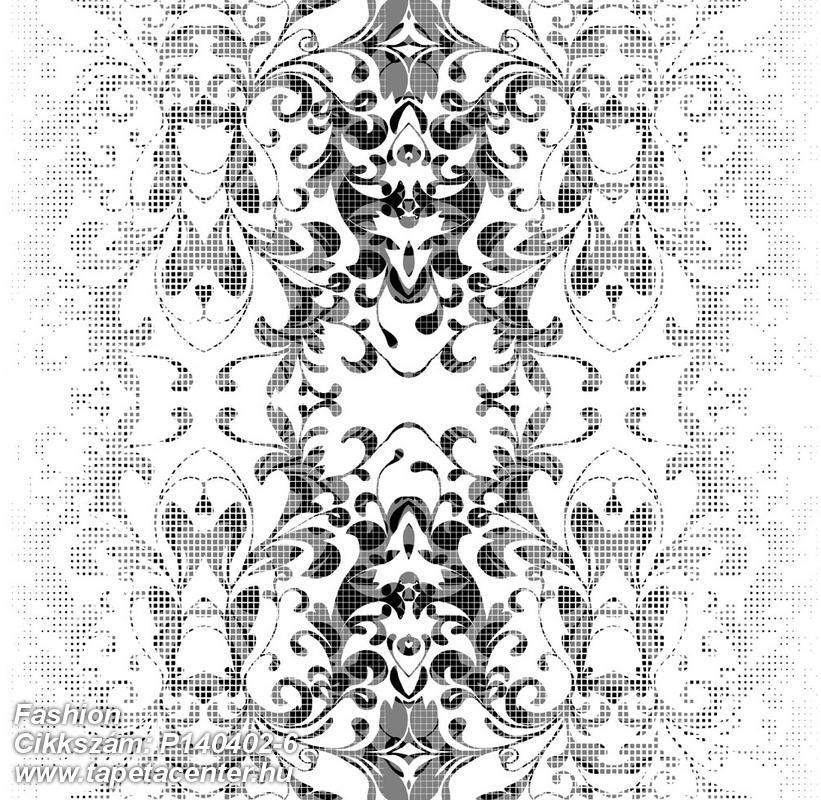 Barokk-klasszikus,csipke,különleges motívumos,rajzolt,retro,természeti mintás,fehér,fekete,gyengén mosható,vlies poszter, fotótapéta