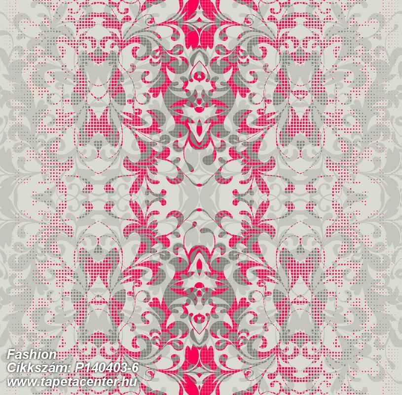 Barokk-klasszikus,csipke,rajzolt,természeti mintás,textil hatású,pink-rózsaszín,szürke,gyengén mosható,vlies poszter, fotótapéta
