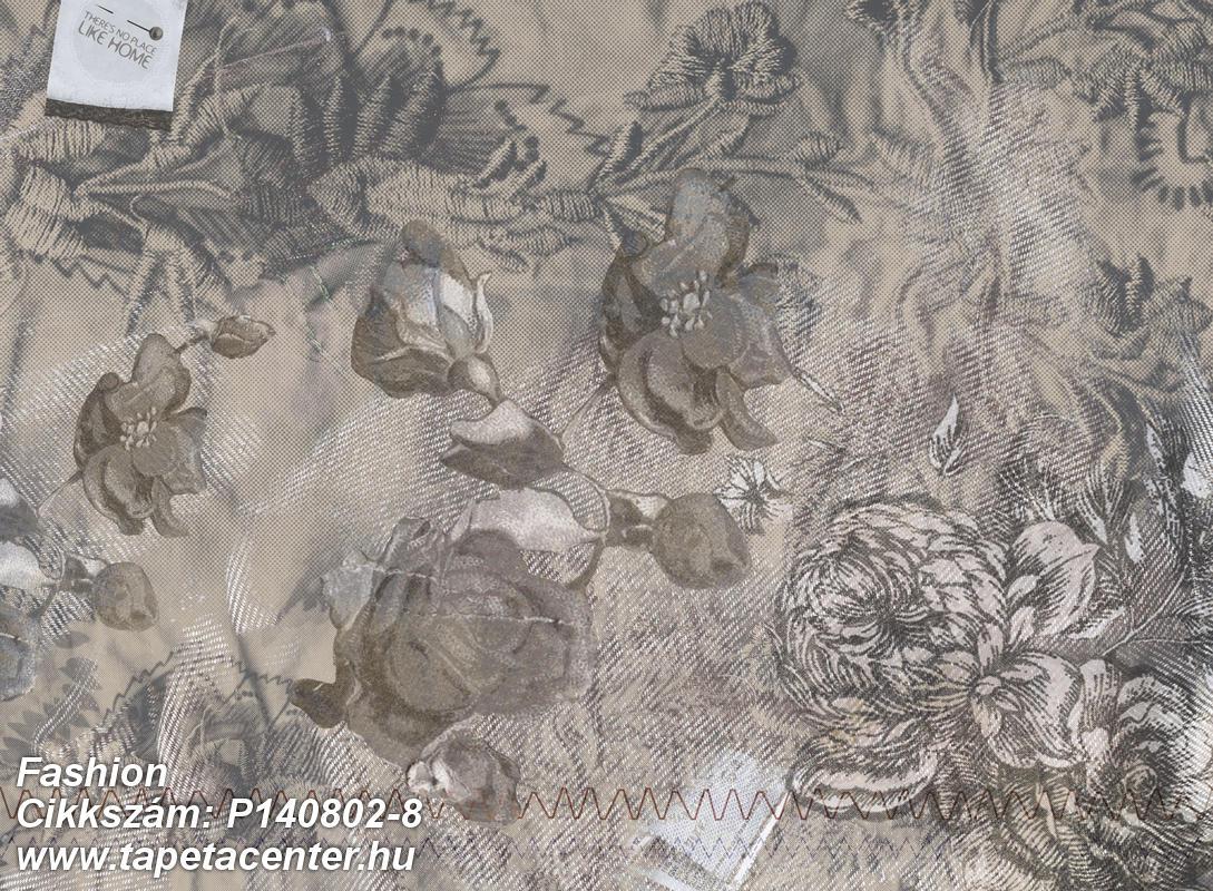 Absztrakt,feliratos-számos,különleges motívumos,rajzolt,textilmintás,virágmintás,barna,szürke,gyengén mosható,vlies poszter, fotótapéta
