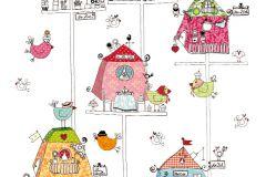 állatok,gyerek,különleges motívumos,rajzolt,fehér,fekete,kék,pink-rózsaszín,piros-bordó,sárga,zöld,gyengén mosható,vlies poszter, fotótapéta