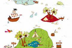 Gyerek,különleges motívumos,rajzolt,természeti mintás,fehér,kék,zöld,gyengén mosható,vlies poszter, fotótapéta
