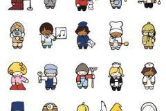 Emberek-sztárok,gyerek,különleges motívumos,rajzolt,barna,fehér,sárga,zöld,gyengén mosható,vlies poszter, fotótapéta