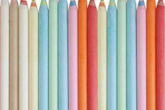 3d hatású,csíkos,fotórealisztikus,gyerek,fehér,kék,narancs-terrakotta,zöld,gyengén mosható,vlies poszter, fotótapéta