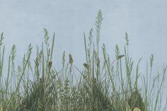 Rajzolt,retro,természeti mintás,barna,kék,zöld,gyengén mosható,vlies poszter, fotótapéta