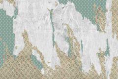 Absztrakt,különleges motívumos,rajzolt,retro,barna,fehér,zöld,gyengén mosható,vlies poszter, fotótapéta