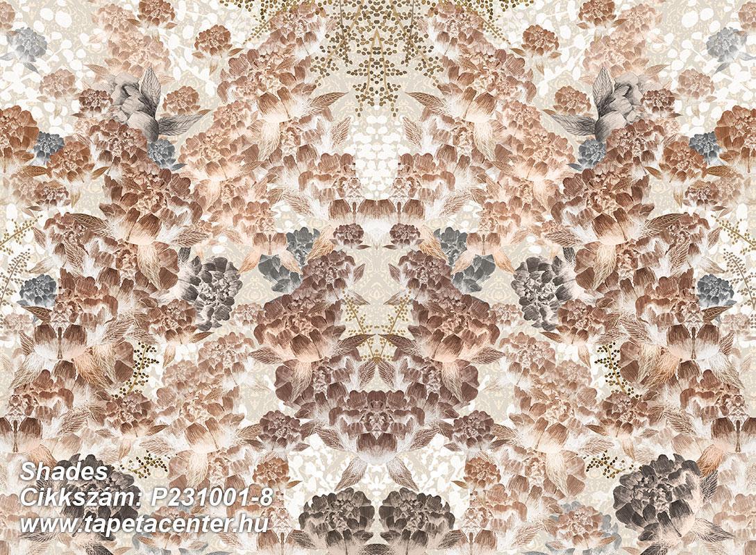 Geometriai mintás,különleges motívumos,rajzolt,retro,barna,bézs-drapp,fehér,vajszín,gyengén mosható,vlies poszter, fotótapéta
