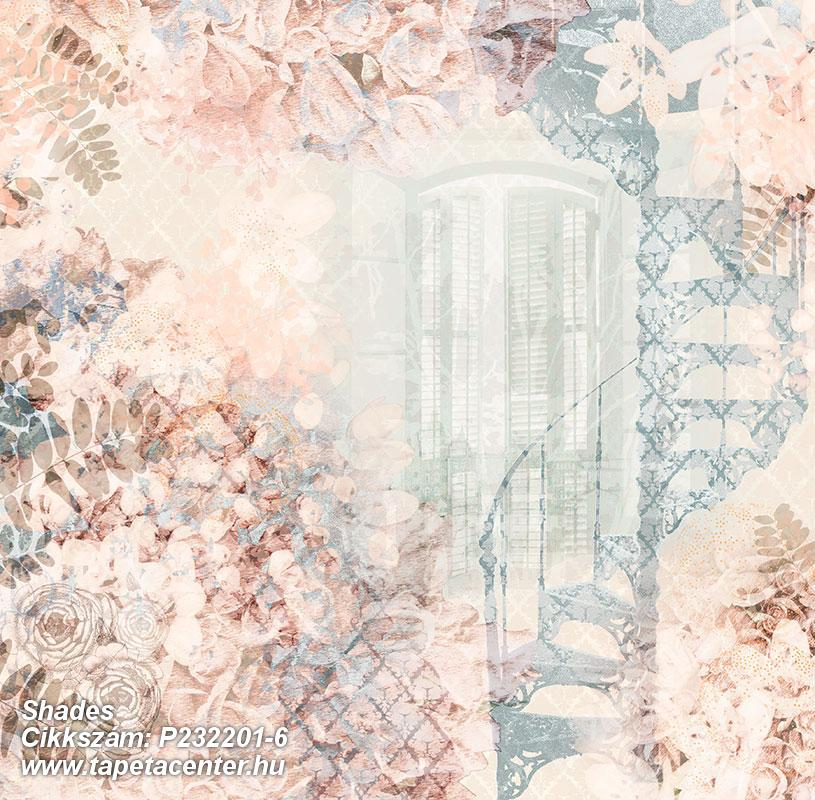 Különleges motívumos,természeti mintás,virágmintás,kék,pink-rózsaszín,zöld,gyengén mosható,vlies poszter, fotótapéta