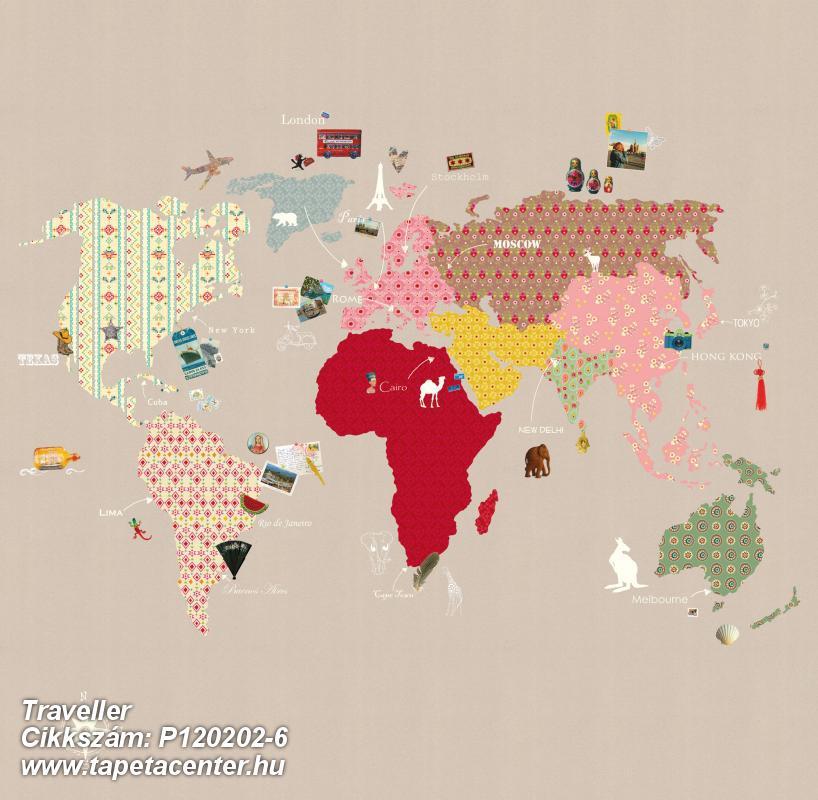 Rajzolt,kék,narancs-terrakotta,pink-rózsaszín,piros-bordó,sárga,szürke,zöld,barna,lemosható,vlies poszter, fotótapéta