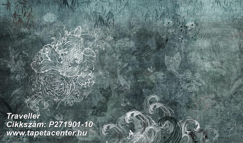 állatok,különleges felületű,különleges motívumos,rajzolt,ezüst,kék,szürke,zöld,lemosható,vlies poszter, fotótapéta
