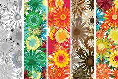 Különleges motívumos,rajzolt,retro,természeti mintás,virágmintás,barna,bézs-drapp,piros-bordó,sárga,türkiz,zöld,gyengén mosható,vlies poszter, fotótapéta