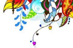 Virágmintás,fehér,kék,lila,narancs-terrakotta,piros-bordó,sárga,türkiz,zöld,gyengén mosható,vlies poszter, fotótapéta