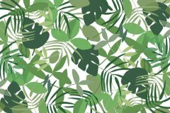 Fa hatású-fa mintás,különleges motívumos,rajzolt,természeti mintás,fehér,zöld,gyengén mosható,vlies poszter, fotótapéta