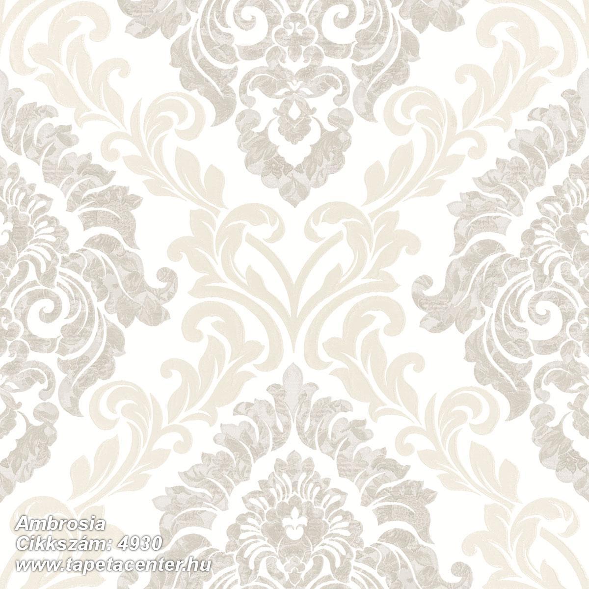 Barokk-klasszikus,különleges motívumos,textil hatású,barna,bézs-drapp,fehér,súrolható,vlies tapéta