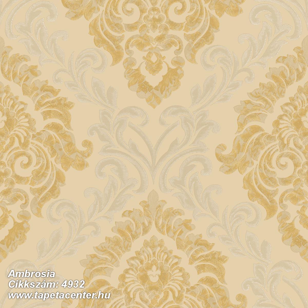Barokk-klasszikus,textil hatású,arany,bézs-drapp,bronz,súrolható,vlies tapéta