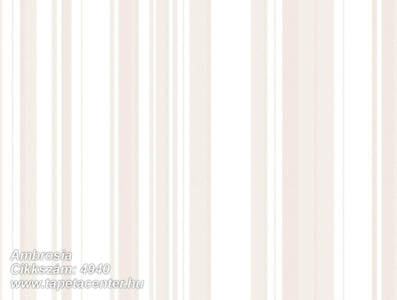 Barokk-klasszikus,csíkos,textil hatású,bézs-drapp,fehér,vajszín,súrolható,illesztés mentes,vlies tapéta