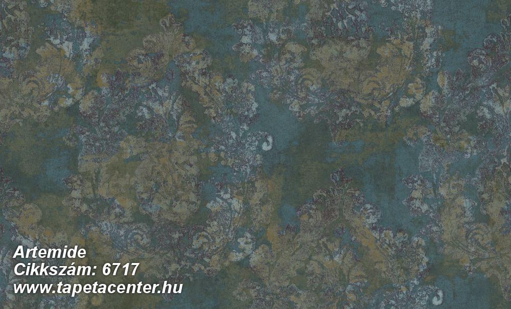 Absztrakt,barokk-klasszikus,különleges felületű,különleges motívumos,textil hatású,virágmintás,barna,bronz,zöld,súrolható,vlies tapéta