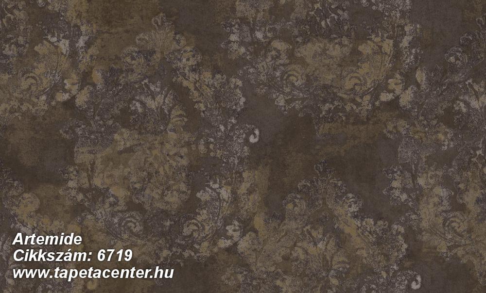 Barokk-klasszikus,különleges felületű,különleges motívumos,virágmintás,barna,bézs-drapp,bronz,súrolható,vlies tapéta