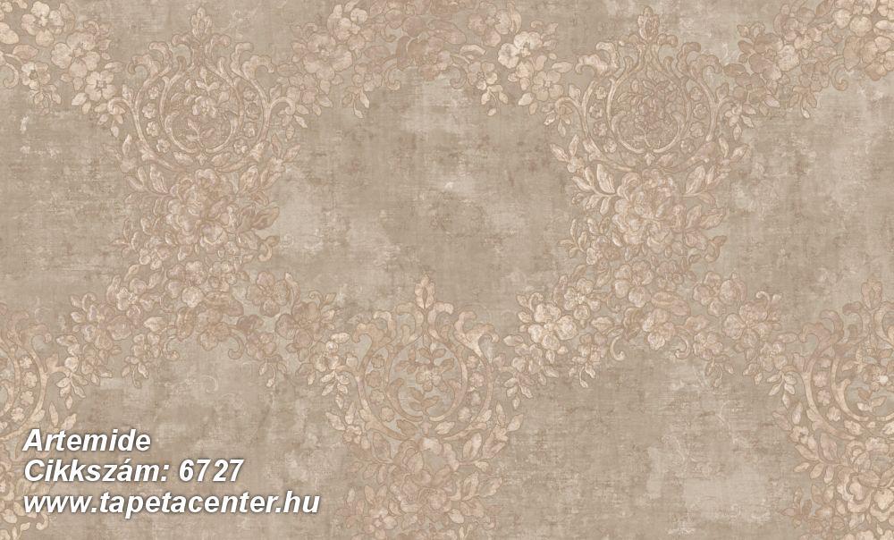 Barokk-klasszikus,különleges felületű,különleges motívumos,textil hatású,virágmintás,bézs-drapp,pink-rózsaszín,súrolható,vlies tapéta