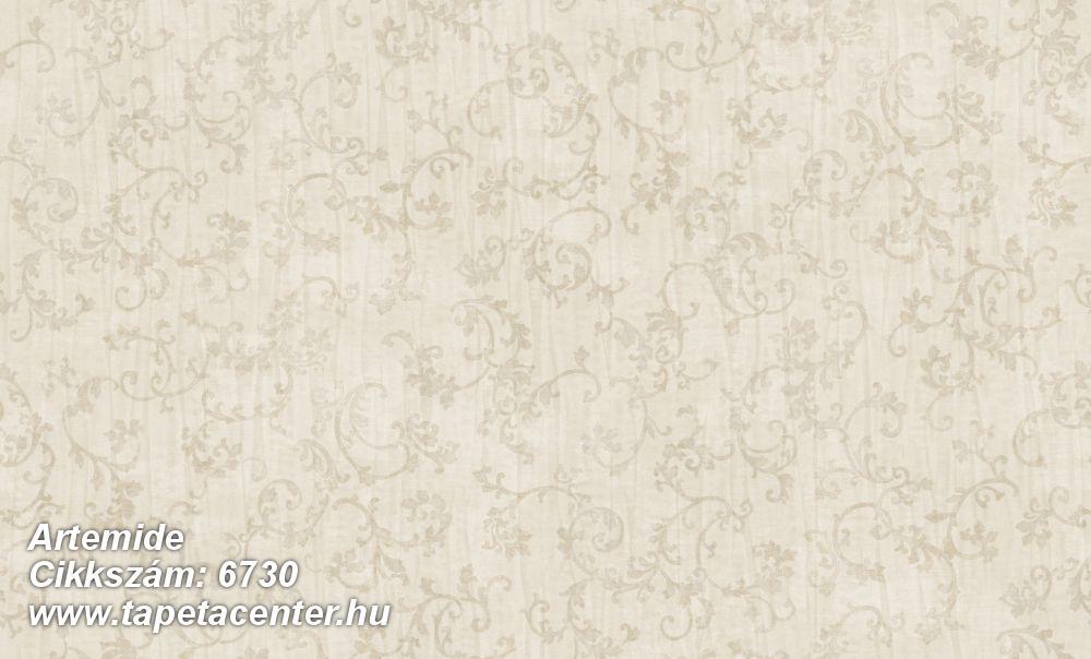Barokk-klasszikus,különleges felületű,különleges motívumos,textil hatású,bézs-drapp,vajszín,súrolható,vlies tapéta