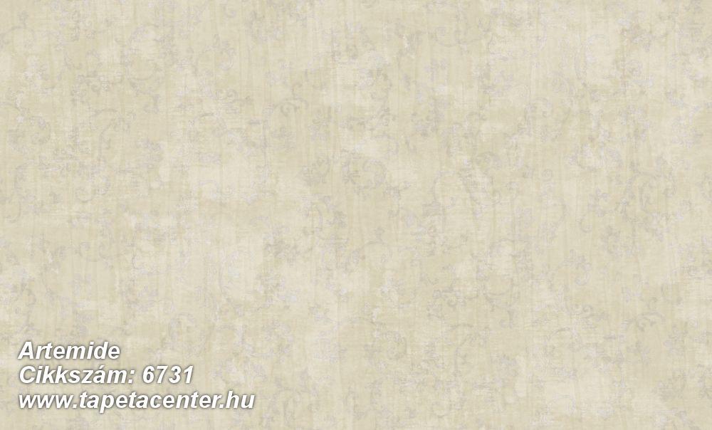 Barokk-klasszikus,különleges felületű,különleges motívumos,textil hatású,vajszín,zöld,súrolható,vlies tapéta
