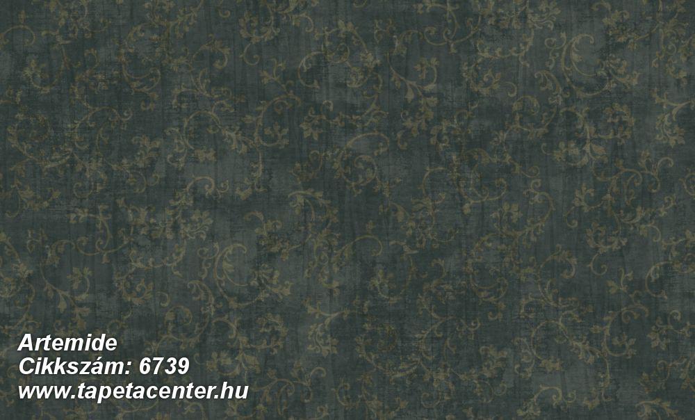Barokk-klasszikus,különleges felületű,különleges motívumos,textil hatású,arany,zöld,súrolható,vlies tapéta