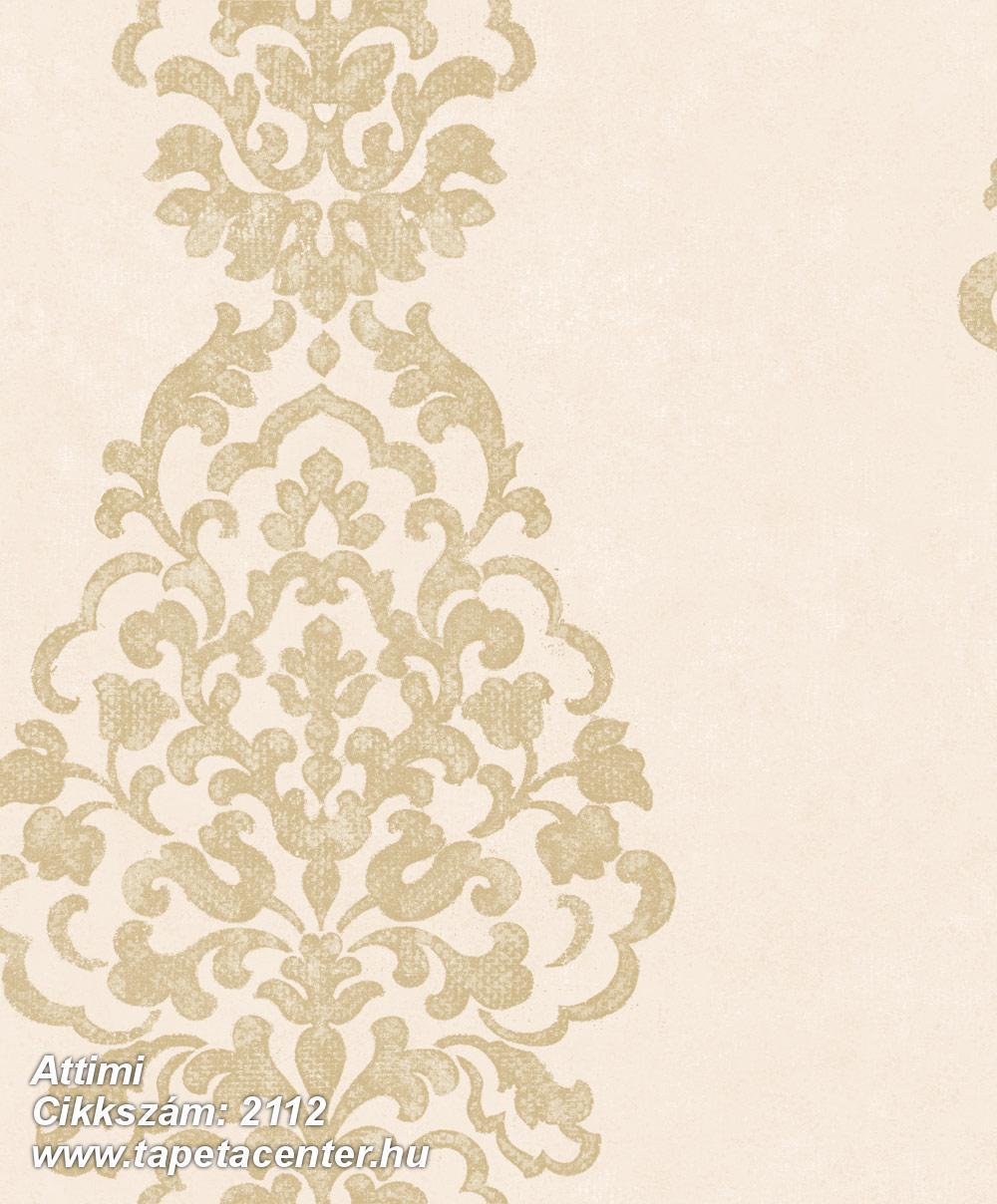 Barokk-klasszikus,barna,bézs-drapp,arany,gyengén mosható,vlies tapéta