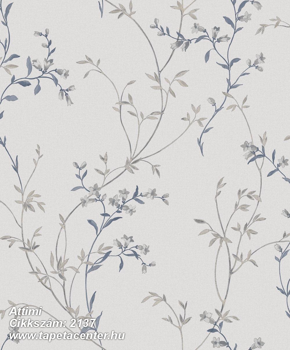 Természeti mintás,virágmintás,bézs-drapp,kék,szürke,gyengén mosható,vlies tapéta