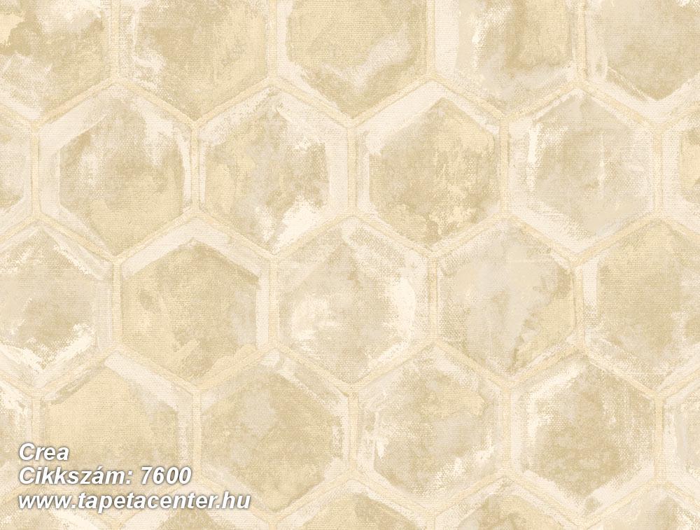 Geometriai mintás,különleges motívumos,arany,barna,bézs-drapp,súrolható,vlies tapéta