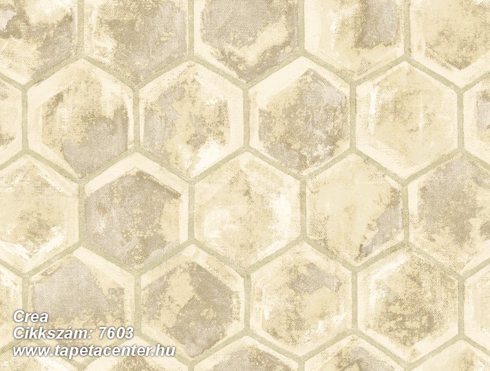 Geometriai mintás,különleges motívumos,barna,bézs-drapp,vajszín,súrolható,vlies tapéta