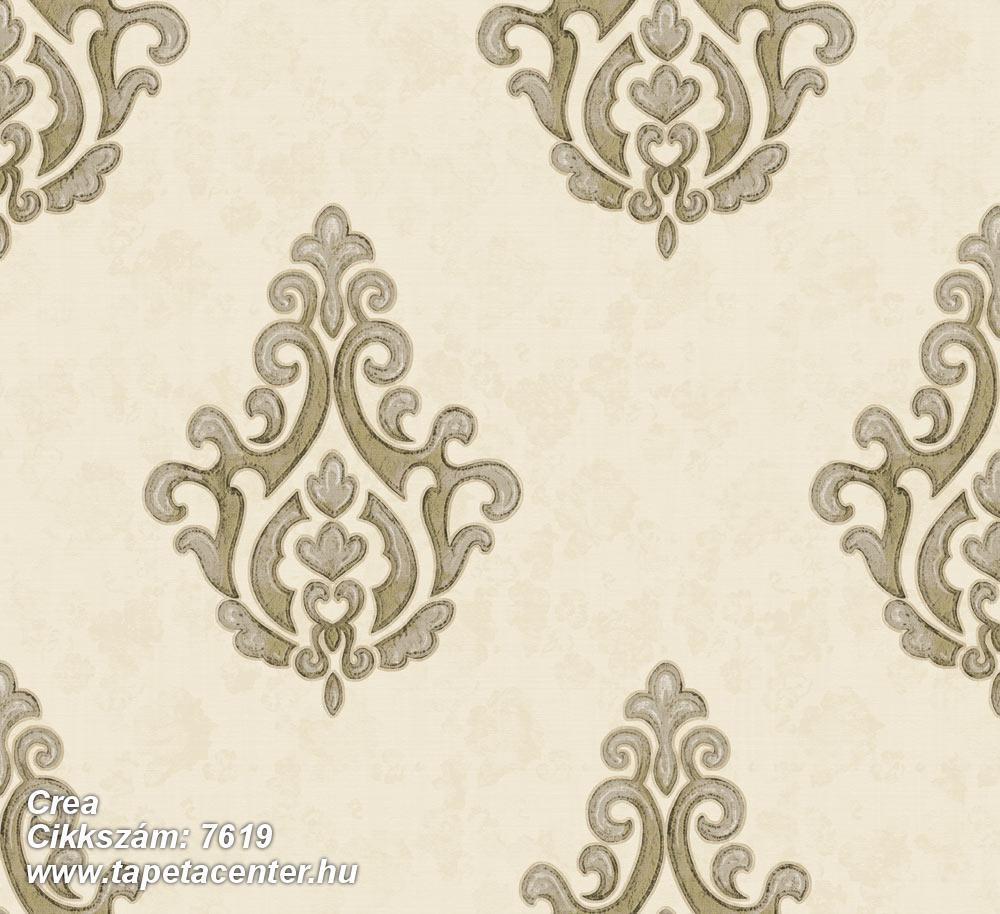 Barokk-klasszikus,textil hatású,arany,barna,bézs-drapp,vajszín,súrolható,vlies tapéta