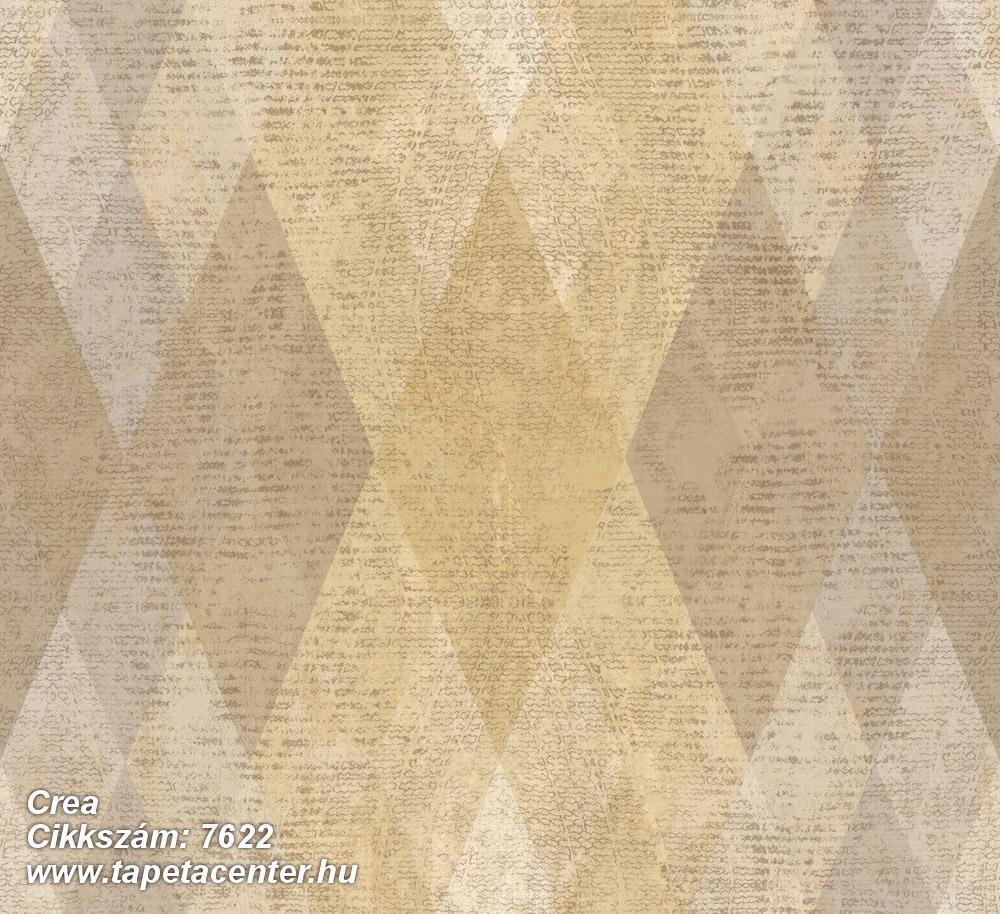 Geometriai mintás,textil hatású,barna,bézs-drapp,sárga,súrolható,vlies tapéta