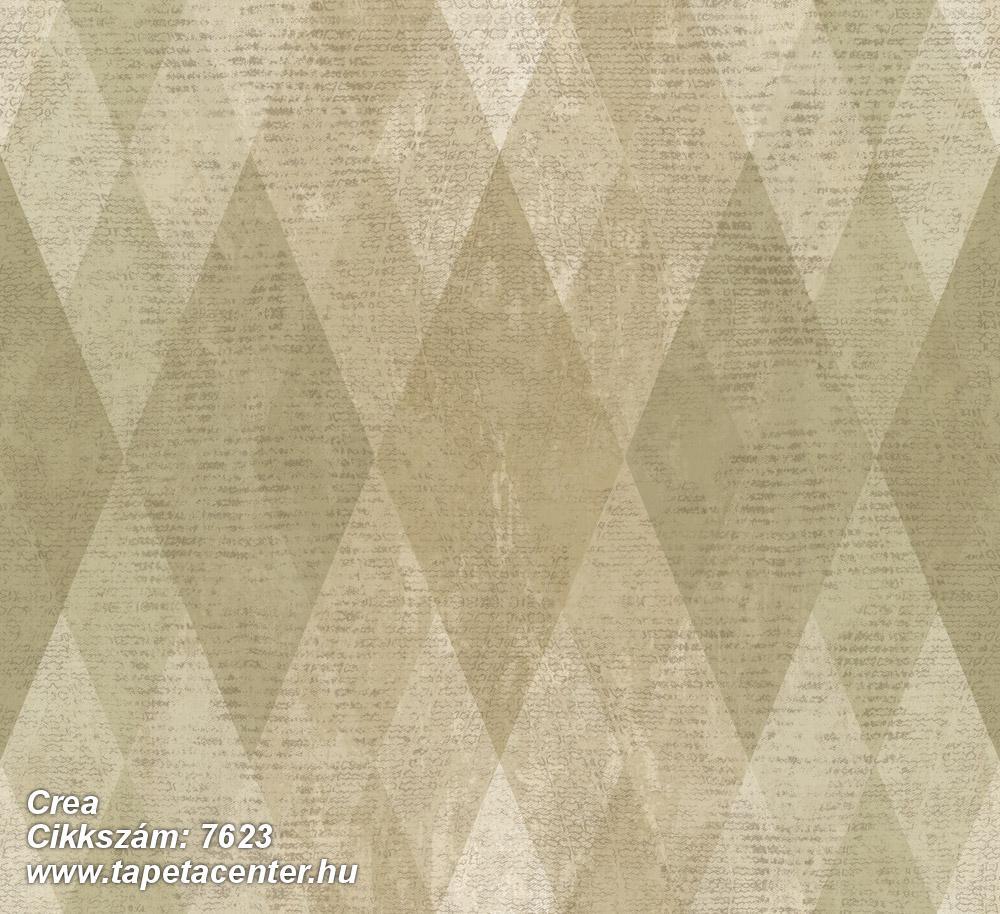 Geometriai mintás,textil hatású,barna,bézs-drapp,zöld,súrolható,vlies tapéta
