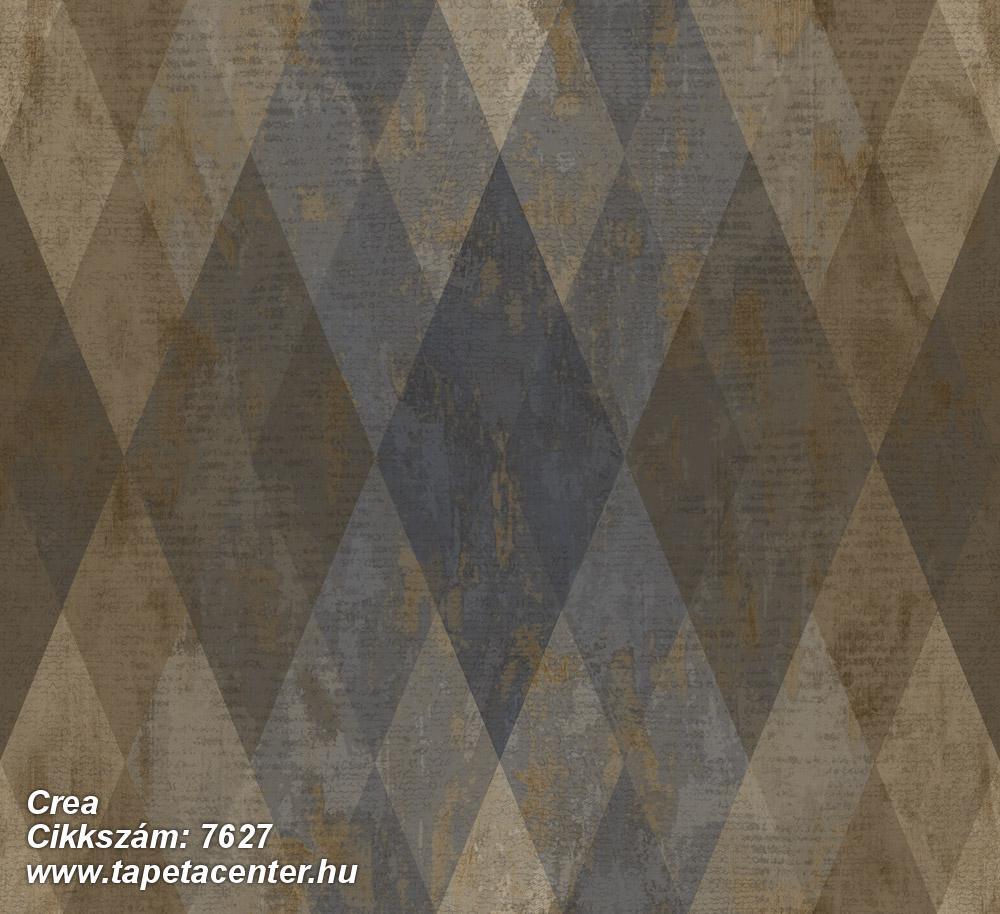 Geometriai mintás,textil hatású,barna,bézs-drapp,kék,súrolható,vlies tapéta