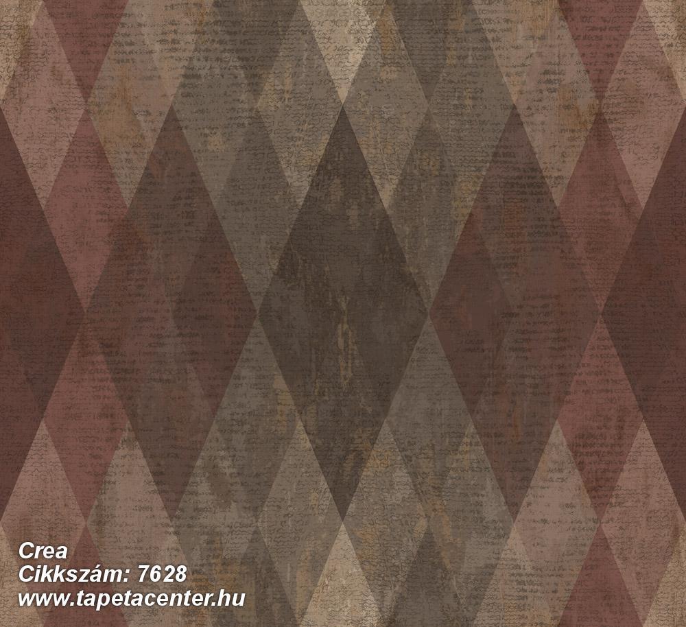 Geometriai mintás,textil hatású,barna,bézs-drapp,piros-bordó,szürke,súrolható,vlies tapéta