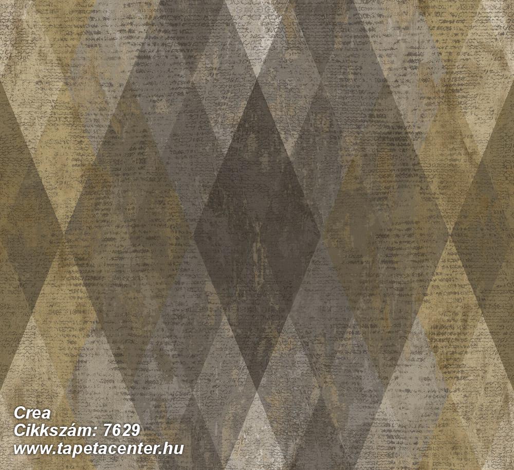 Geometriai mintás,textil hatású,barna,bézs-drapp,sárga,szürke,súrolható,vlies tapéta