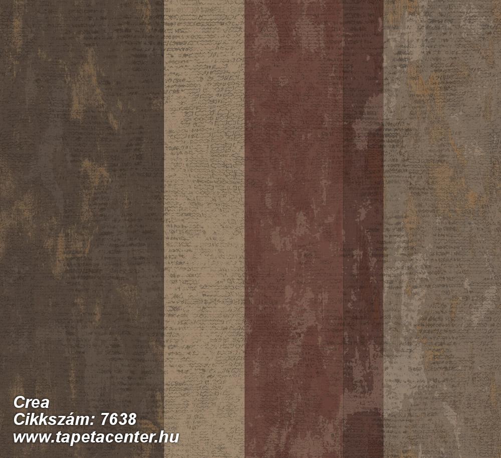 Barokk-klasszikus,csíkos,textil hatású,barna,bézs-drapp,piros-bordó,súrolható,illesztés mentes,vlies tapéta
