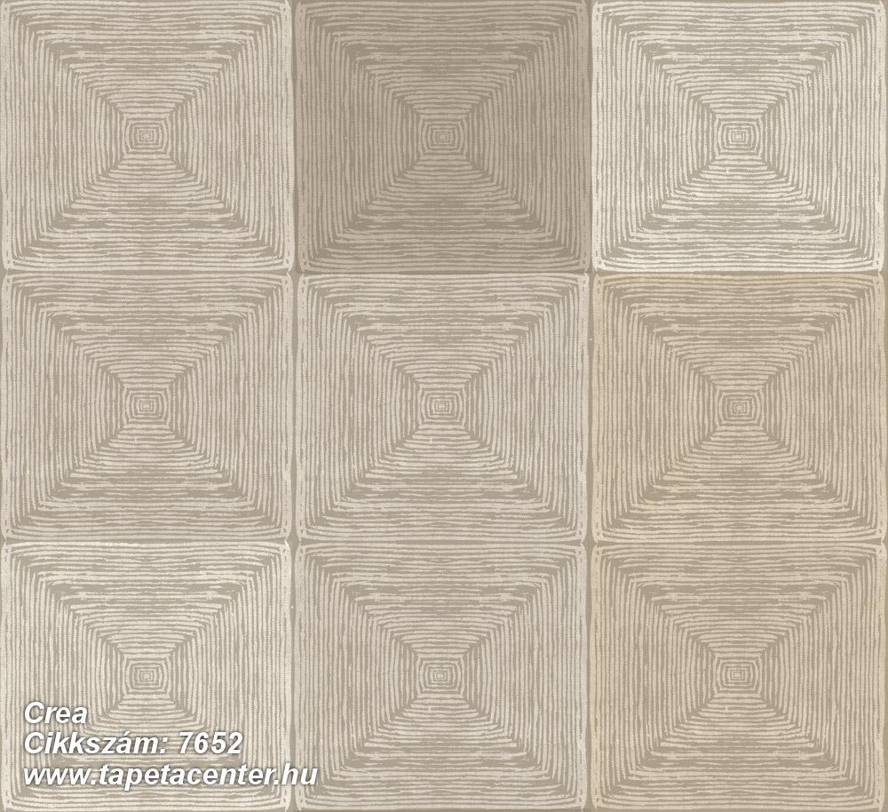 3d hatású,geometriai mintás,kockás,textil hatású,barna,bézs-drapp,szürke,súrolható,vlies tapéta
