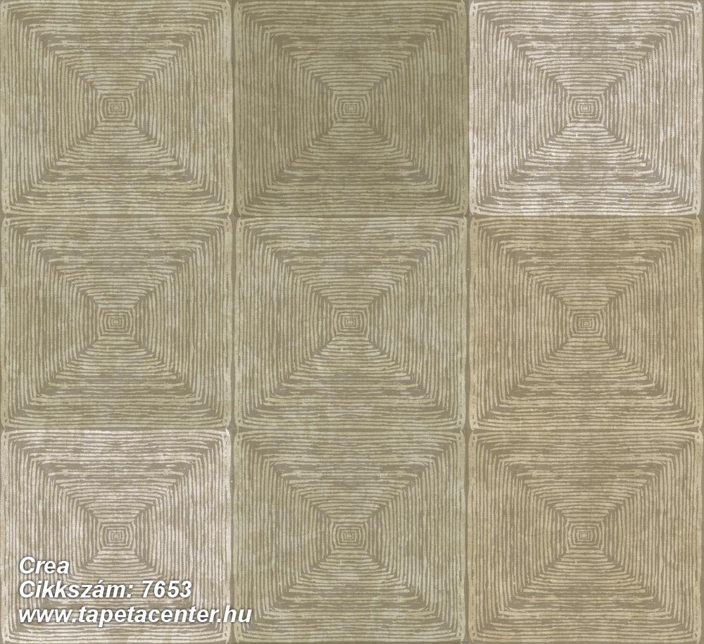 3d hatású,geometriai mintás,kockás,textil hatású,barna,bézs-drapp,szürke,zöld,súrolható,vlies tapéta