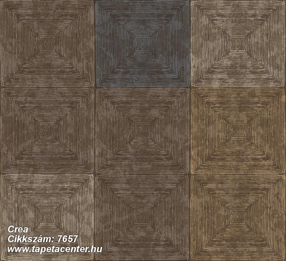 3d hatású,geometriai mintás,kockás,textil hatású,barna,bézs-drapp,kék,szürke,súrolható,vlies tapéta