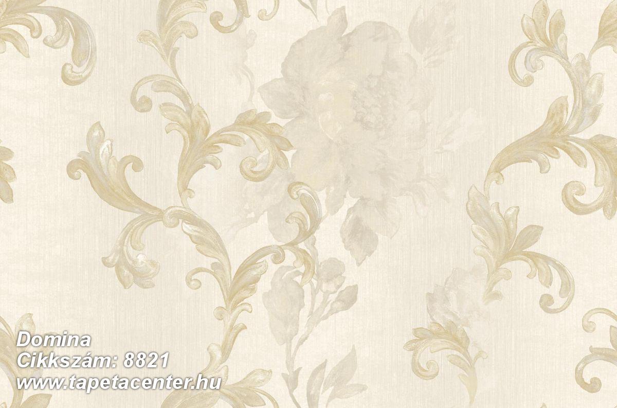 Barokk-klasszikus,virágmintás,arany,bézs-drapp,súrolható,vlies tapéta