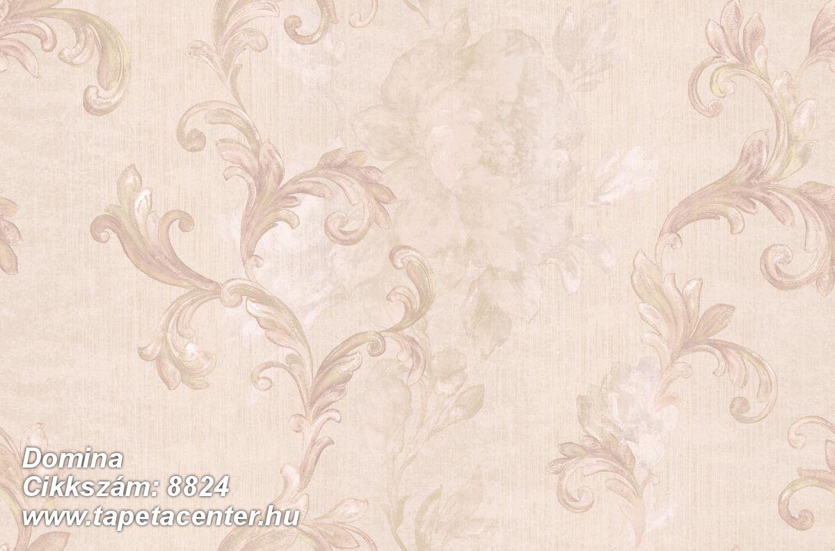 Barokk-klasszikus,virágmintás,bézs-drapp,pink-rózsaszín,súrolható,vlies tapéta