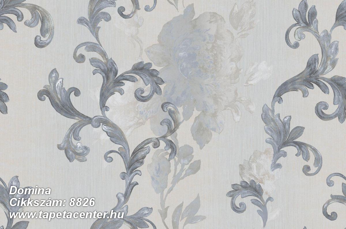 Barokk-klasszikus,virágmintás,bézs-drapp,kék,szürke,súrolható,vlies tapéta