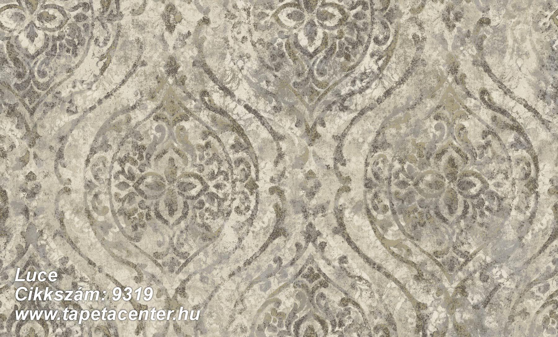 Barokk-klasszikus,különleges felületű,különleges motívumos,arany,barna,szürke,súrolható,vlies tapéta